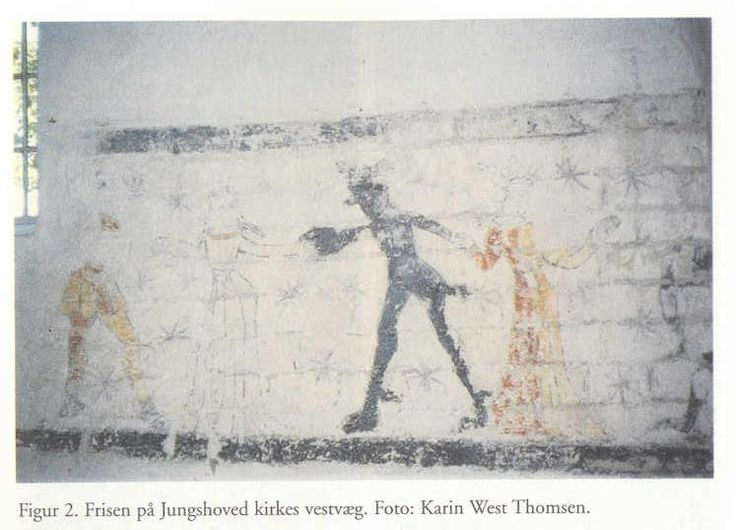 wall-painting at Jungshoved church, in Denmark, c. 1400