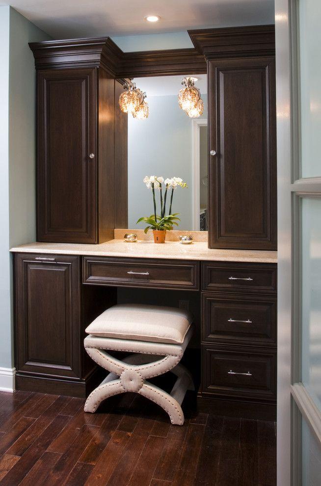 144 best master bath ideas images on pinterest - Bathroom makeup vanity ideas ...