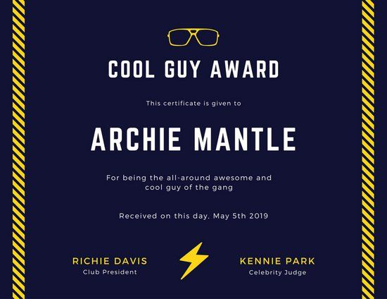 9 best award certificate images on Pinterest Award certificates - free customizable printable certificates of achievement