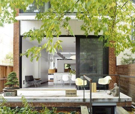 Interior polished concrete floors and concrete patio
