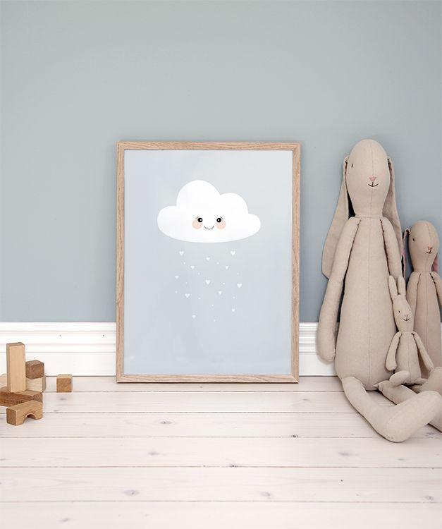 Kinderposter mit einer niedlichen Wolke für das Kinderzimmer.