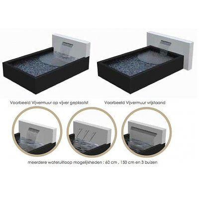 Vijver in aluminium (ook verkrijgbaar op maat, met vijvermuur en meerdere waterloopuitloop mogelijkheden)