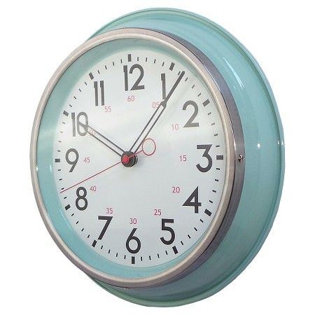 "Schoolhouse Wall Clock Mint 14"" - Threshold™ : Target"