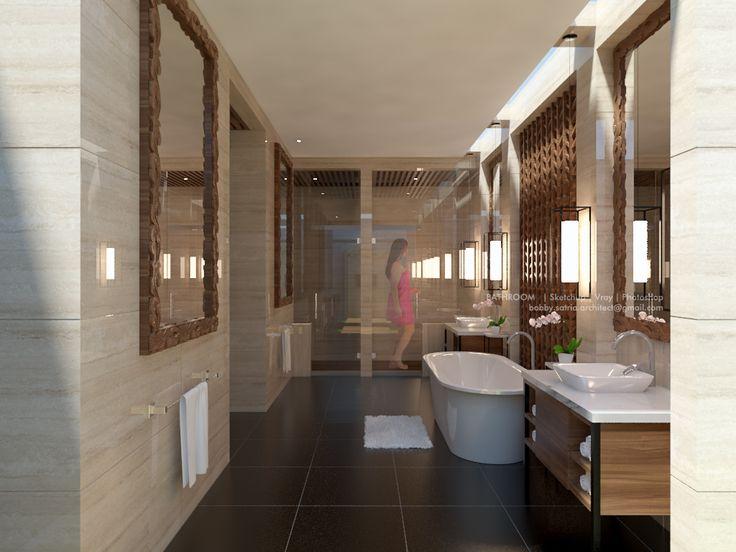 Interior Bathroom , Santika Belitung, Indonesia