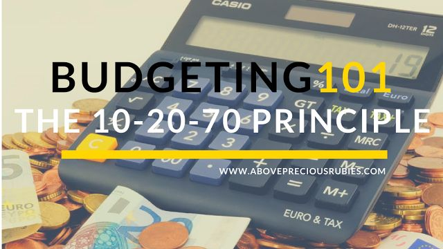 Above Precious Rubies - Mommy Blogger Philippines | Budgeting money | Financial Education | Budgeting 101 | 10-20-70 Principle | Bo Sanchez | http://www.abovepreciousrubies.com/2017/07/budgeting-101-10-20-70-principle.html