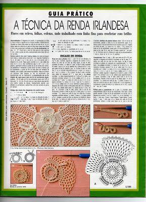 Crochê Tricô - Gráficos: Renda Irlandesa