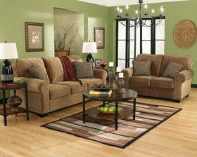 Green Living Room Family Basements This Had Similar Furniture To Mine And