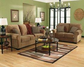 Green living room/family room/basement