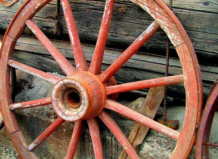 old wagon wheels we had two in the front yard things