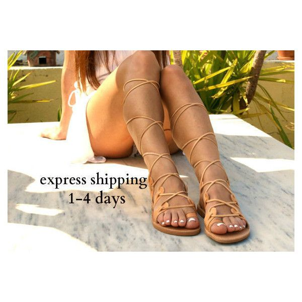 Amazona Leather Gladiator Sandals Ancient Greek Sandals Lace Up... (575 ZAR) ❤ liked on Polyvore featuring shoes, sandals, black, gladiator & strappy sandals, women's shoes, leather strap sandals, lace-up gladiator sandals, strappy sandals, strappy gladiator sandals and laced up gladiator sandals