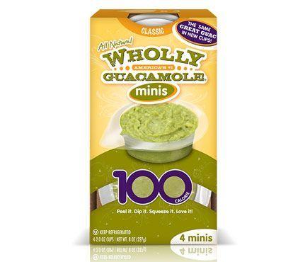75 snacks under 200 calories: Wholly Guacamole 100-Calorie Pack = 100 calories per pack