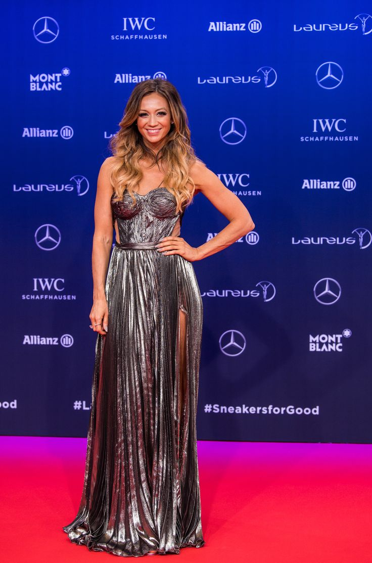 MONTE CARLO, MONACO - FEBRUARY 14: Host Kate Abdo attends the 2017 Laureus World Sports Awards at the Salle des Etoiles, Sporting Monte Carlo on February 14, 2017 in Monaco, Monaco. The most outstanding athletes of the past year were honoured at the Laureus World Sports Awards 2017. (Photo by Lukas Schulze/IWC Schaffhausen via Getty Images )
