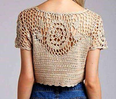 www.fhinotrico.blogspot.com: Blusa em croche com motivo