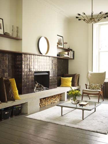 Love the pops of yellow. From Retrouvius Reclamation and Design