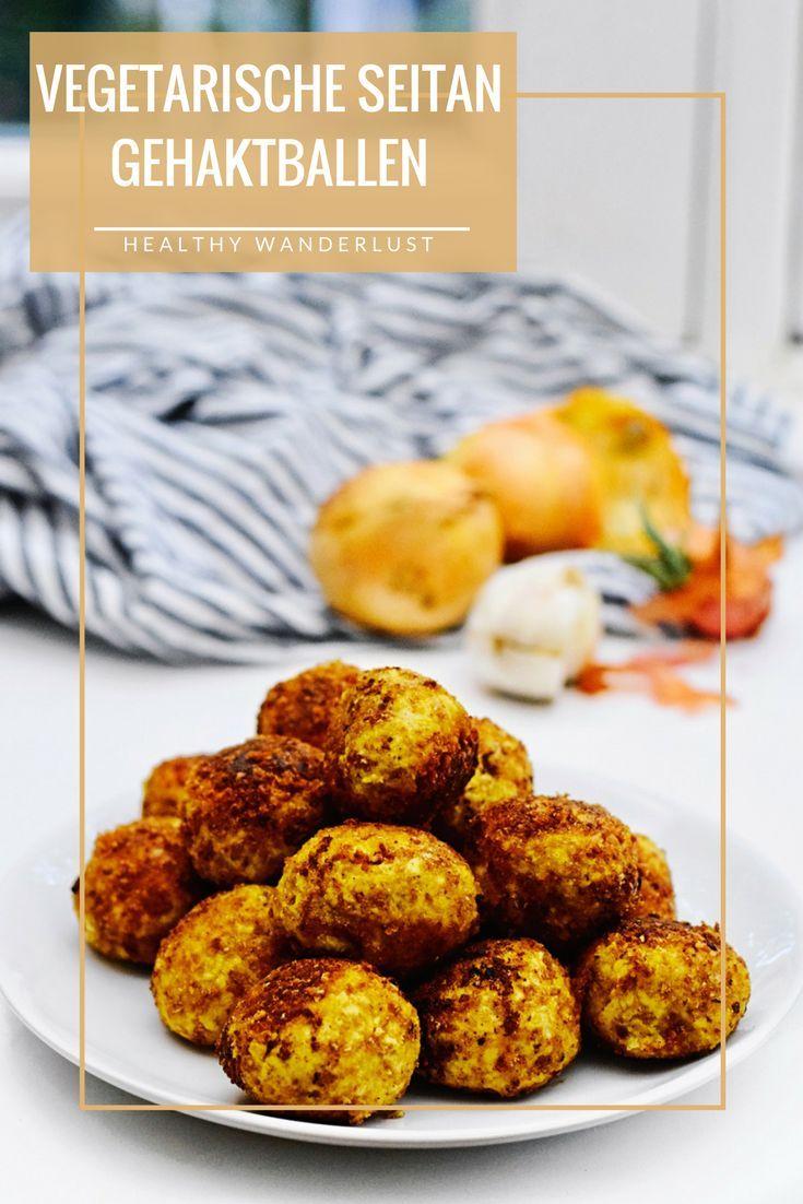 Vegetarische seitan gehaktballen - Het recept vind je op www.HealthyWanderlust.nl   Health blog