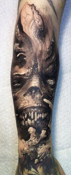 Tattoo Artist - Tommy Lee Wendtner - monsters tattoo