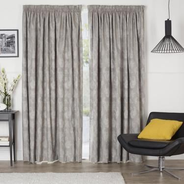 The Wilson Formosa Pencil Pleat Curtain Is Made From A Jacquard Fabric That Features An Embroidery Design Inspired By Classic Fls With Contemporary