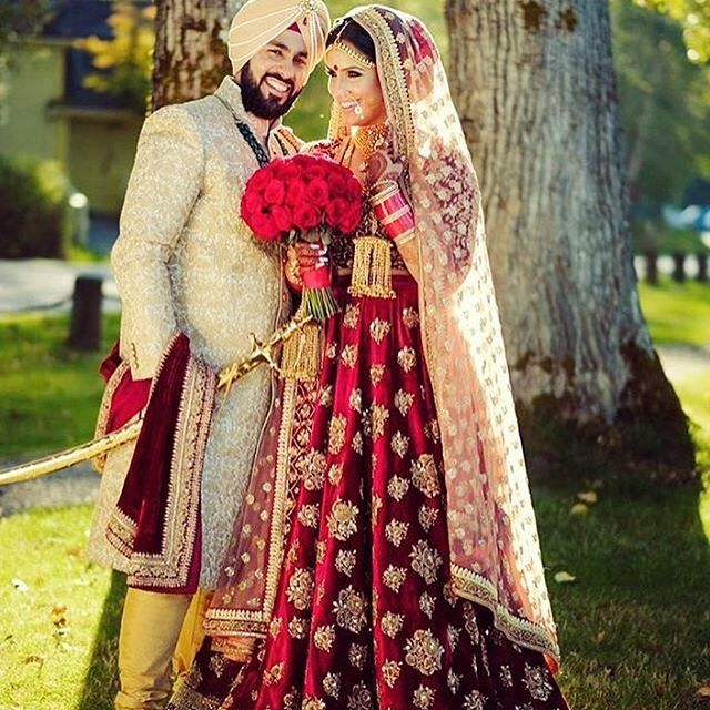 Such a beautiful shot of this newly wed couple on their big day. Together forever ❤️ #indianwedding #indianbride #indiangroom #indianwedding #indianweddingbuzz #indianweddingideas #weddingphotography #photographylover #photographyideas #potd #weddingphotographyinspiration #love #beautiful #sherwani #bridalsuit #vibrant #indiancouture #sikhbride #sikhwedding #sikhgroom #desibride #desigroom #asianbride #asiangroom #asianwedding #desiwedding #MazaaOnline    #Regram via @mazaaonline)