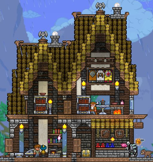 My Merchant's Home And General Store : Terraria