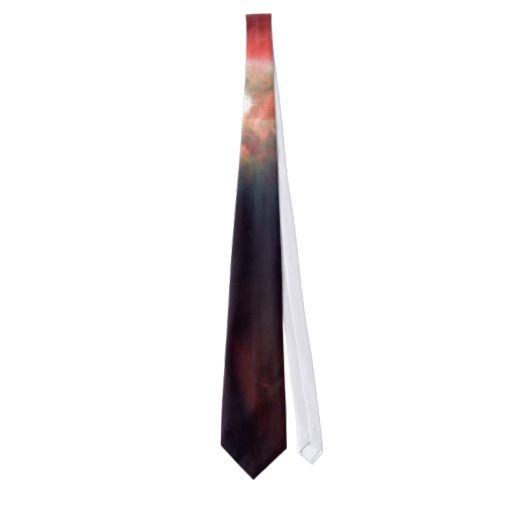 Cone nebula in space mens tie
