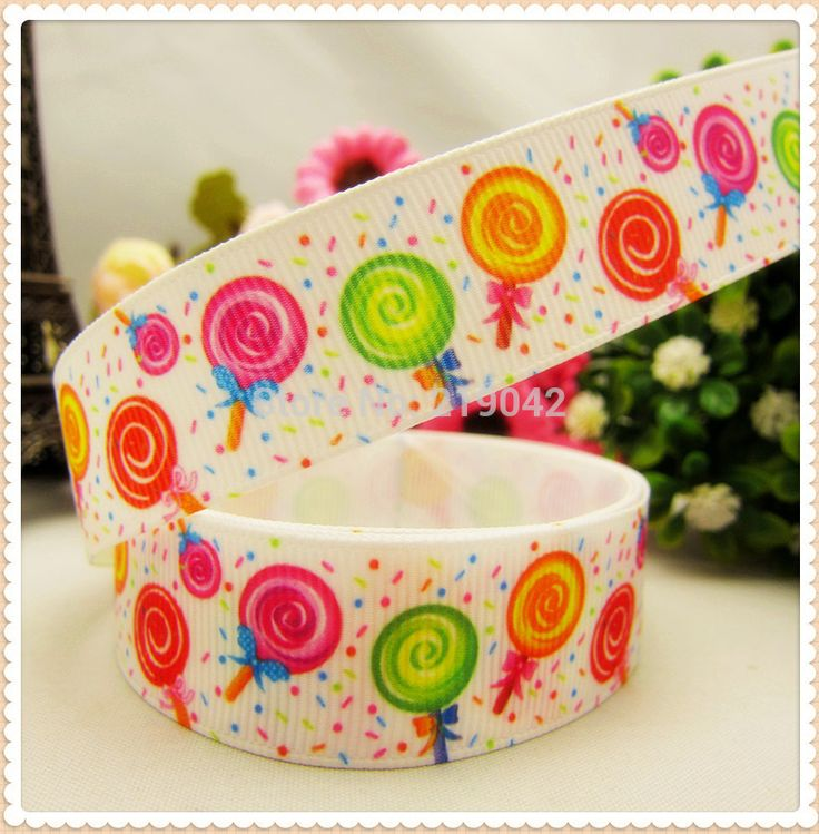 148137,22mm 10 yards Cartoon candy  Series printed grosgrain ribbon,Clothing accessories,jewelry wedding package