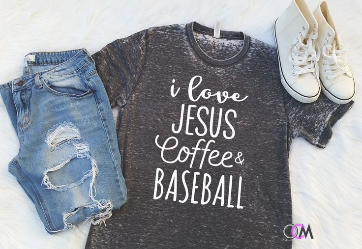 I love Jesus Coffee & Baseball Shirt, Jesus Shirt, Coffee Shirt, Funny Shirt, Christian Shirt, I love Jesus, Baseball Mama Shirt by 1OneCraftyMomma on Etsy