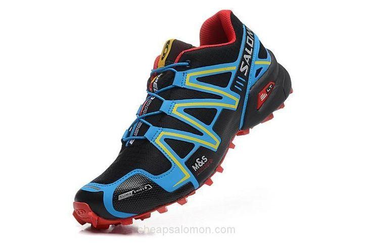 K0019 Salomon Speedcross 3 CS Mens Trail Running Shoes Black Blue #RunningGearsTips
