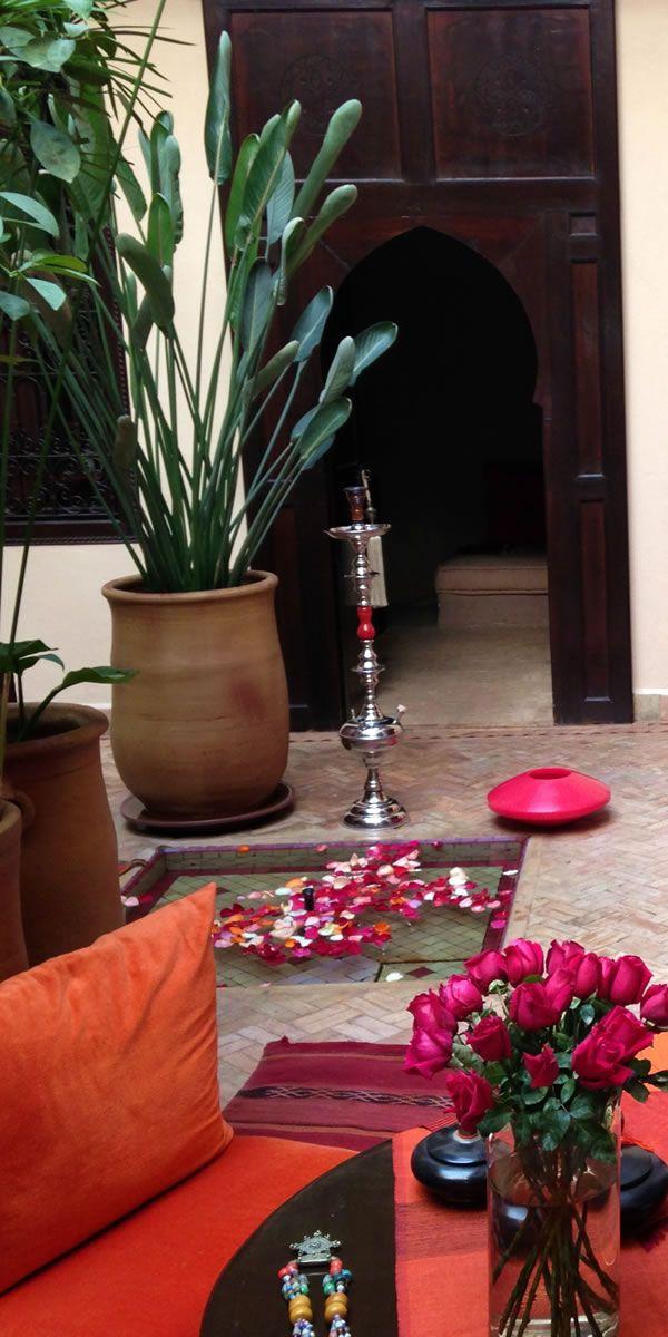 マラケシュではリヤドに宿泊。 Riad hotel.