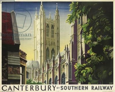 Canterbury, poster advertising Southern Railway, 1938 (colour litho)