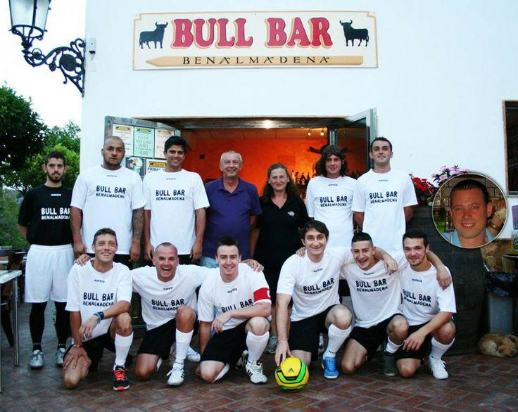 When next in Spain visit the Bull Bar in Benalmadena Pueblo. Meet the Bull Bar Football Club