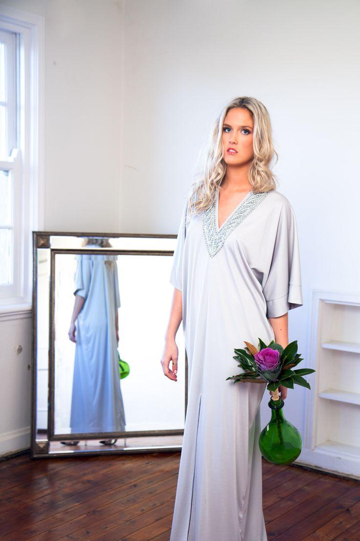 PCV Silver Summer Kaftan, Vintage Kaftan Dress by LucieAnn Hollywood