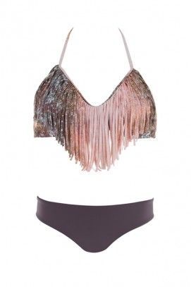 I personally think that most fringe bikinis look tacky, but this one is really pretty!