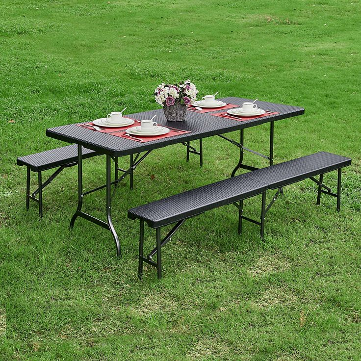 Awesome Decorative Portable Picnic Table Folding Garden Dining Table