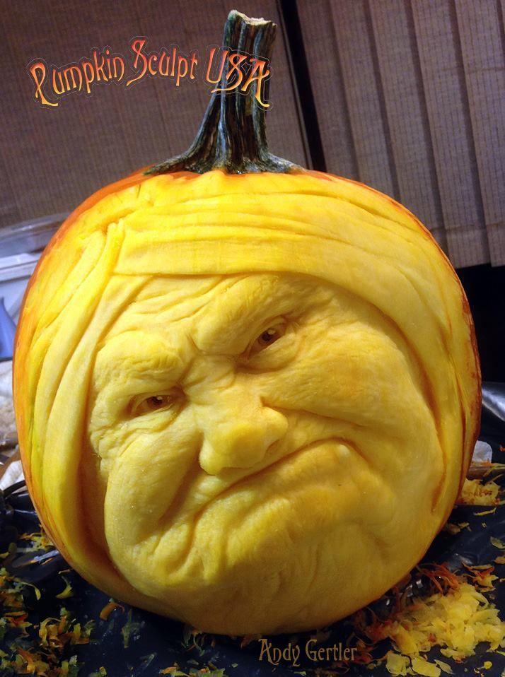 Stunning and Delightful Pumpkin Carvings by Pumpkin Sculpt USA - Grandma
