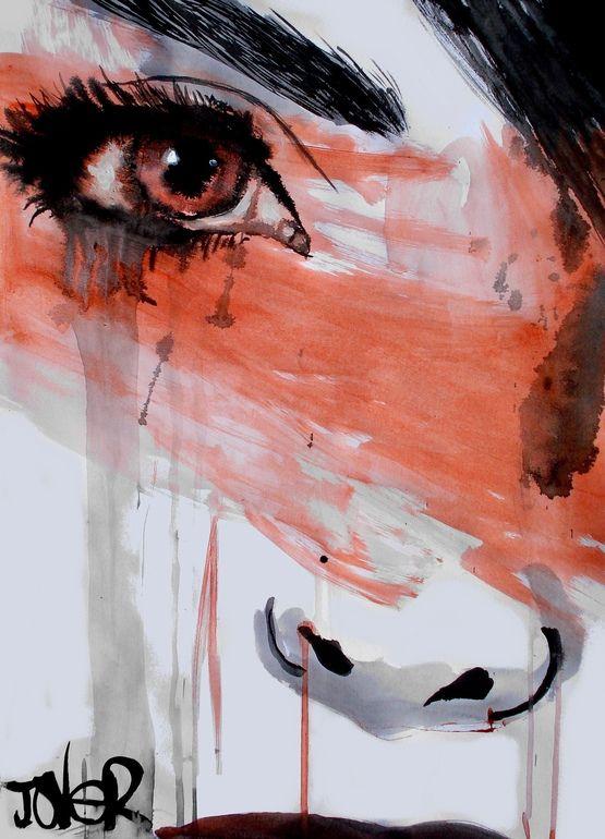 "Saatchi Online Artist: Loui Jover; Pen and Ink, Drawing ""interlude"" #art #drawing #kysa"