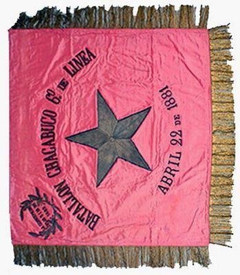 Estandarte del Regimiento Chacabuco 6° de Línea. Año 1881