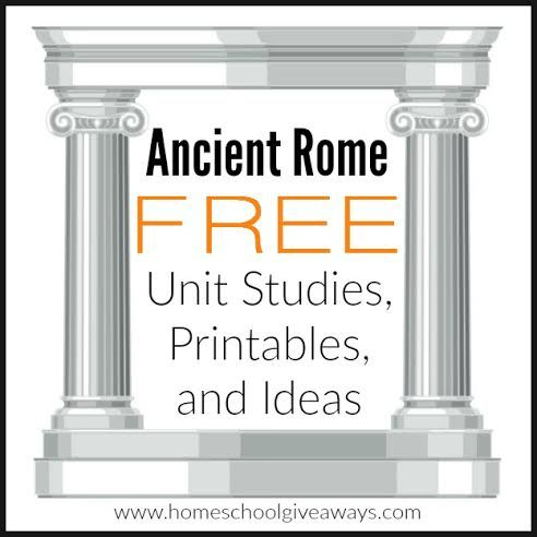 Ancient Rome FREE Unit Studies, Printables and Ideas