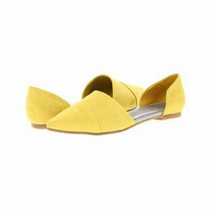 Yellow Easy Does It Flat | 27 Boutique The Easy Does It Flat from Chinese Laundry. A pointed ballet flat made of bright yellow micro-suede.