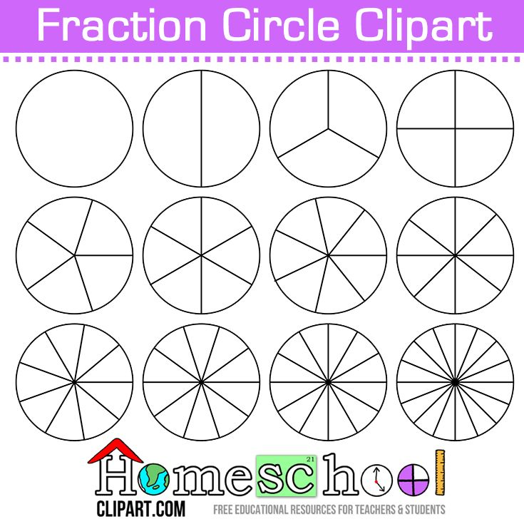It is a picture of Unusual Fraction Circles Printable