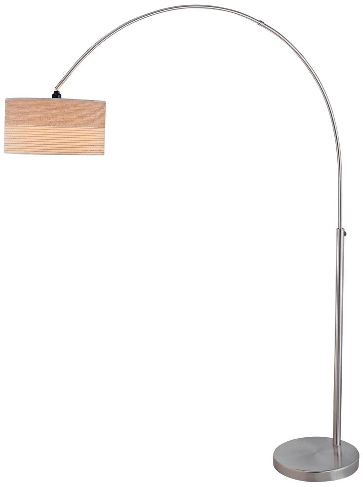Lite Source Relaxar Polished Steel Arc Floor Lamp