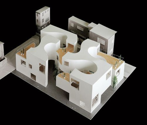 Okurayama apartments sanaa architectural model for The model apartment
