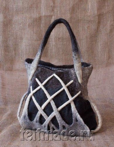 сумка из войлока,авторская сумка