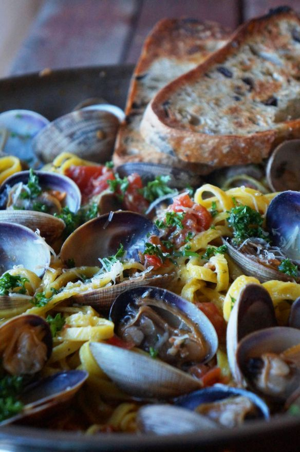 Linguine with Clams and Chorizo | Chorizo, Clams and Linguine