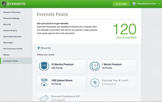 Invite Friends. Get Points. Introducing the Evernote Referral Program. // Great idea. Evernote is a damn fine application.