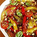 Une salade pour mettre de la couleur dans l'assiette ! L'assaisonnement de choc, c'est de l'ail, du vinaigre balsamique et du Tabasco en...