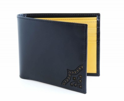 Ettinger Brogue Black Billfold Wallet