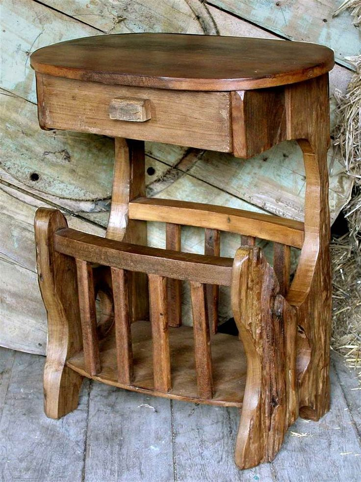 Southwestern+Hand-Carved+Magazine+Rack