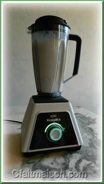 Préparation du lait de riz cuit avec le blender Komomix