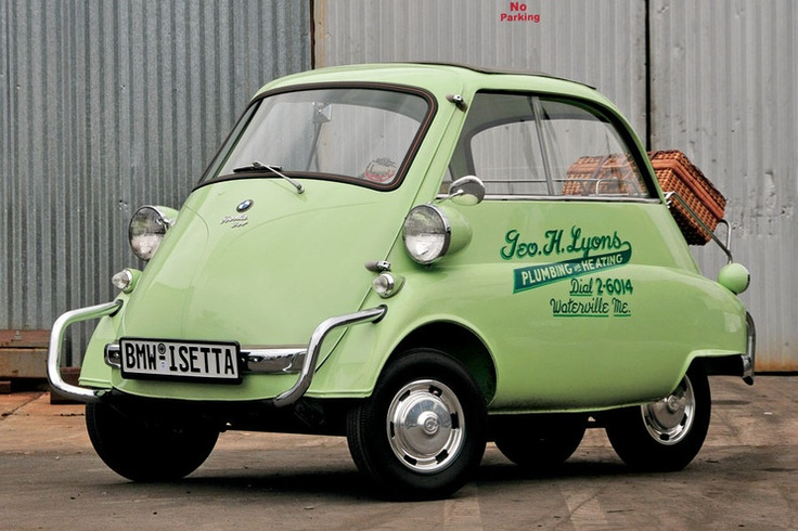 1957 Mint-Green BMW Isetta: The Happy Mobile.