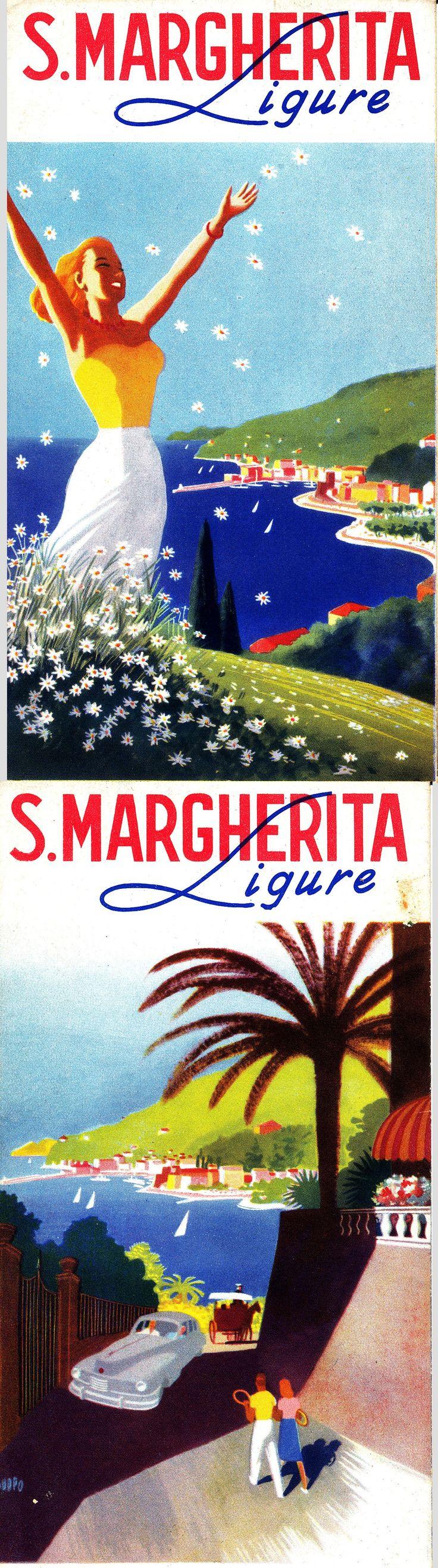 Brochure promozionale di Santa Margherita Ligure (Puppo, 1948) #liguria #riviera #essenzadiriviera